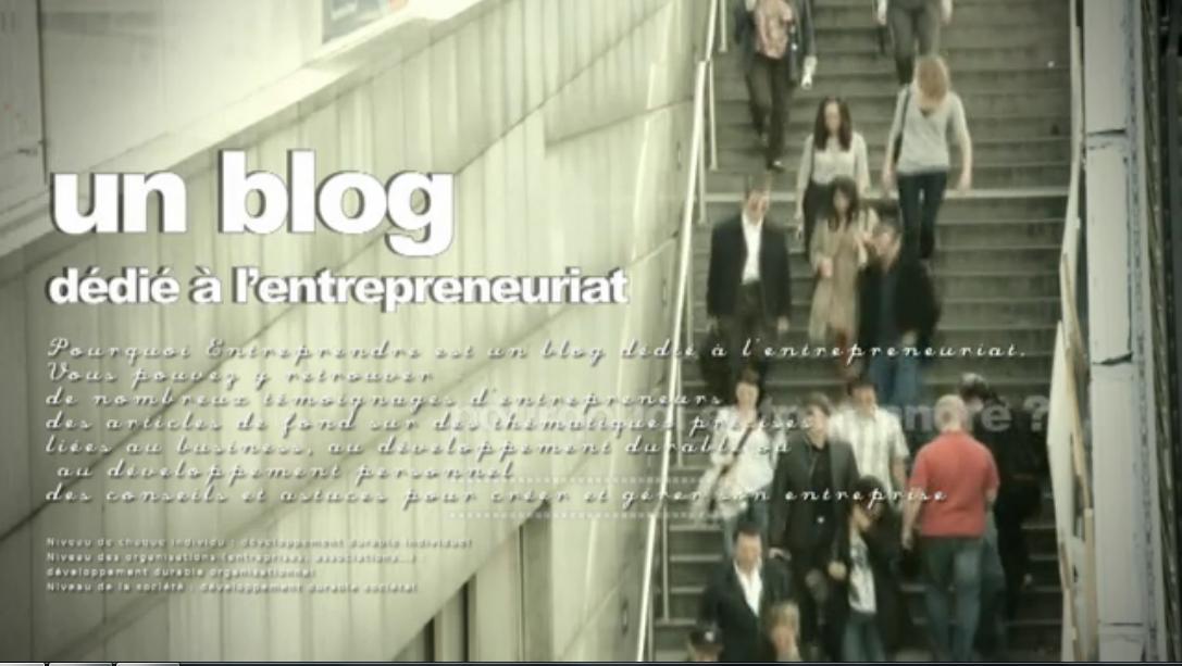 Un blog dédié à l'entrepreneuriat - pourquoi entreprendre