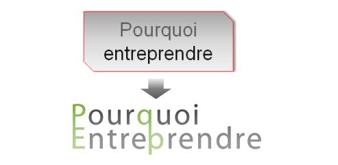 evolution logo Pourquoi Entreprendre - comment créer son logo