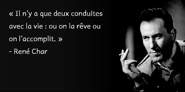 René Char - conduire la vie - Copie