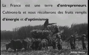 La France est une terre d'entrepreneurs. Cultivons-la et nous récolterons des fruits remplis d'énergie et d'optimisme.