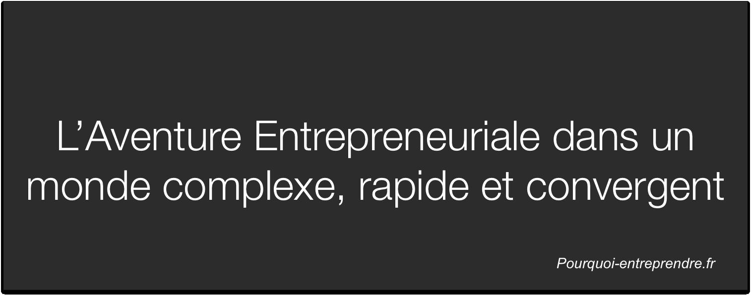 Aventure Entrepreneuriale dans monde complexe