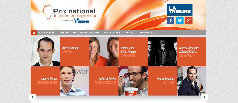 Prix National du Jeune Entrepreneur 2013 par La Tribune