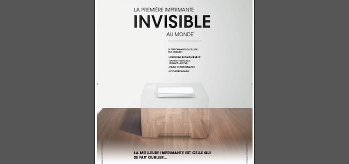 Brother imprimante invisible