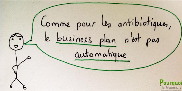 Comme les antibiotiques, le Business Plan n'est pas automatique