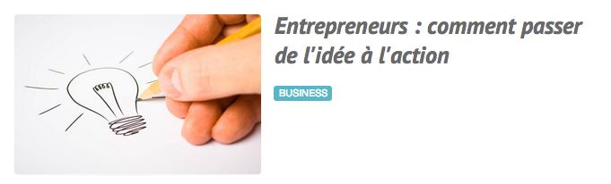 Entrepreneurs : comment passer de l'idée à l'action