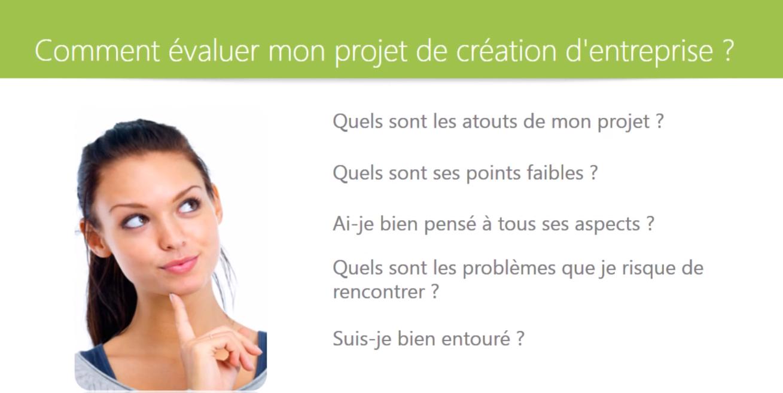 evaluation projet entreprise