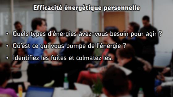 efficacité énergétique personnelle