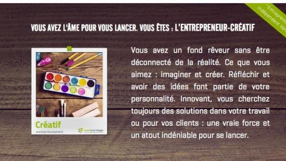 profil entrepreneur créatif