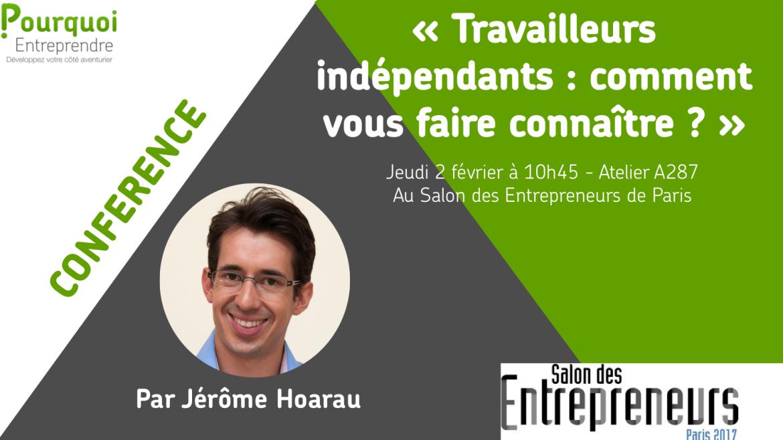 Jerome Hoarau au Salon des Entrepreneurs