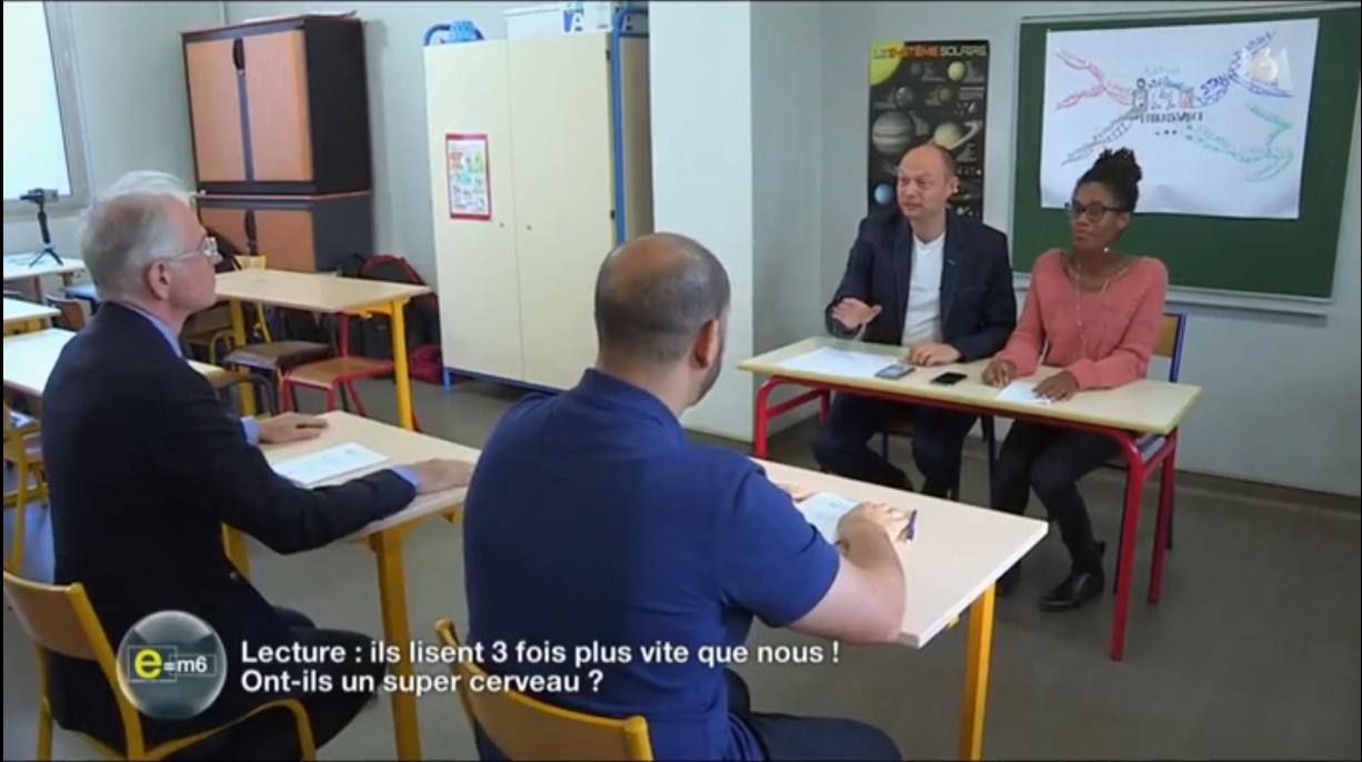 Nicolas Lisiak, Mohamed Koussa et Sabrina Goudeau sur e=M6 sur le championnat de France de Lecture Rapide